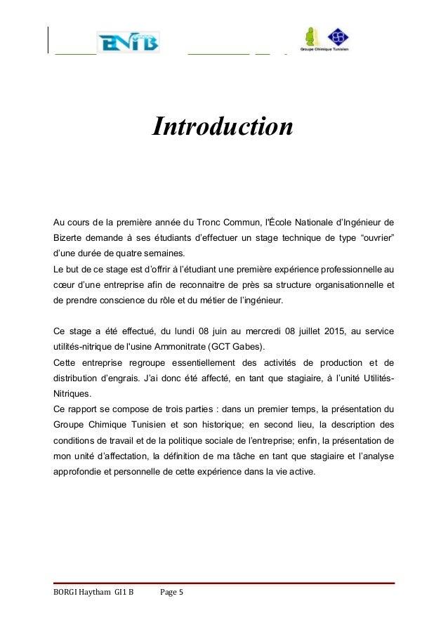 Rapport 2 me version for Introduction rapport de stage cuisine
