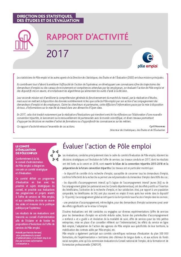 Rapport D Activite De La Direction Des Statistiques Des Etudes Et De