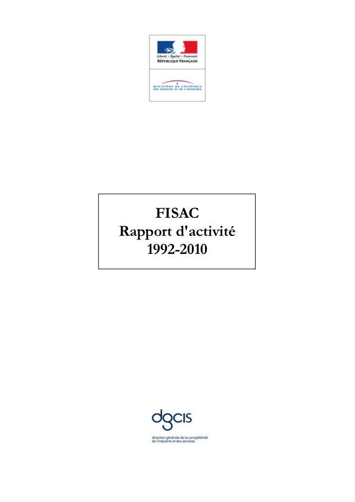 FISACRapport dactivité   1992-2010