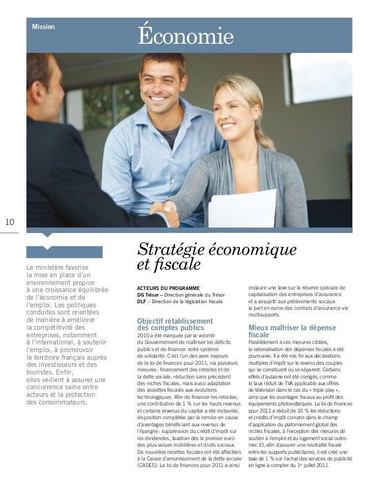 Économie       mission10                                     Stratégie économique     Le ministère favorise     la mise en...