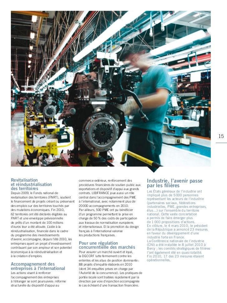 15revitalisation                                    commerce extérieur, renforcement des              Industrie, l'avenir ...