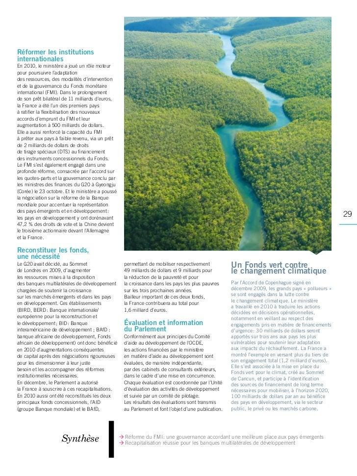 Rapport activite ministere economie 2010