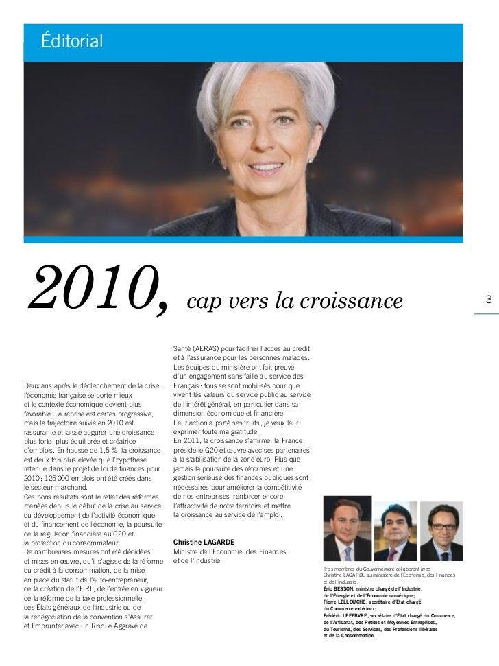 Éditorial2010,                                                  cap vers la croissance                                    ...