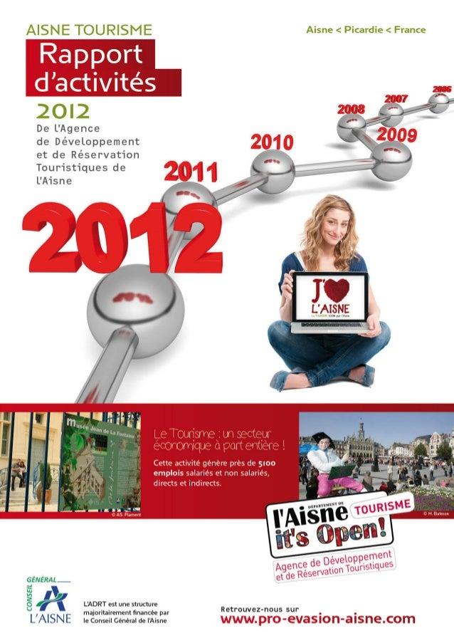 Rapport activites 2012_aisne_tourisme_ADRT