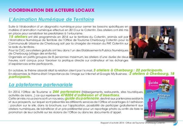 Rapport activit s 2014 office de tourisme cherbourg cotentin - Mission office de tourisme ...