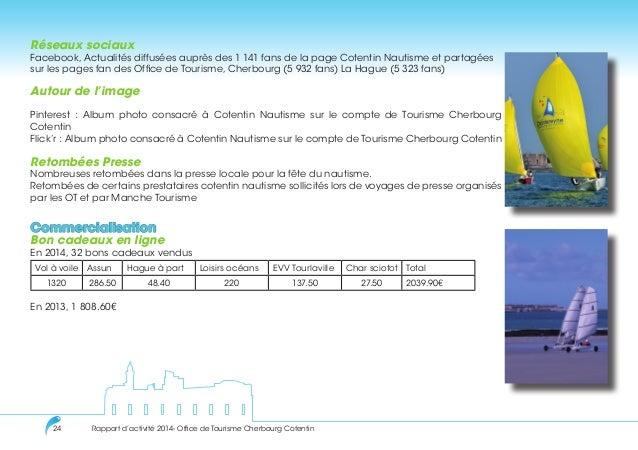 Rapport activit s 2014 office de tourisme cherbourg cotentin - Office de tourisme de la hague ...