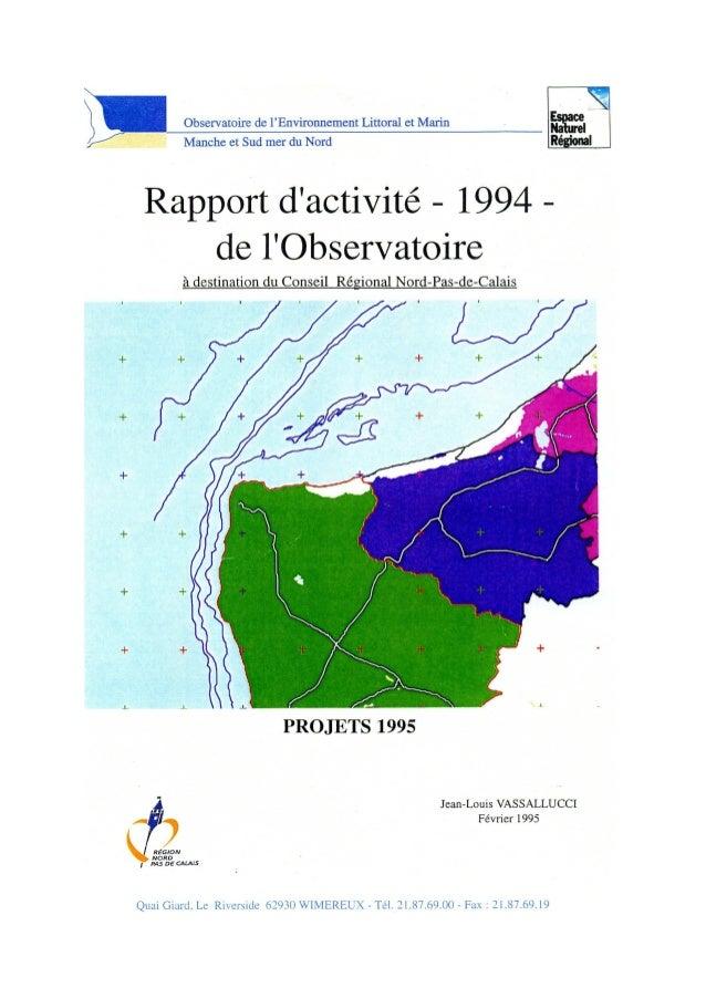 Rapport activités observatoire elm 1994