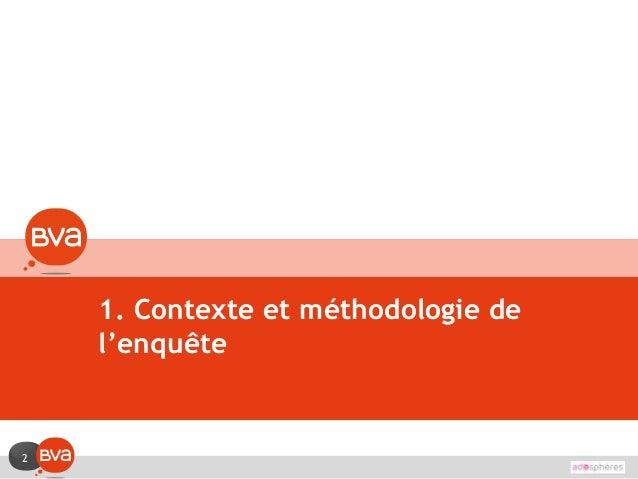 2 1. Contexte et méthodologie de l'enquête