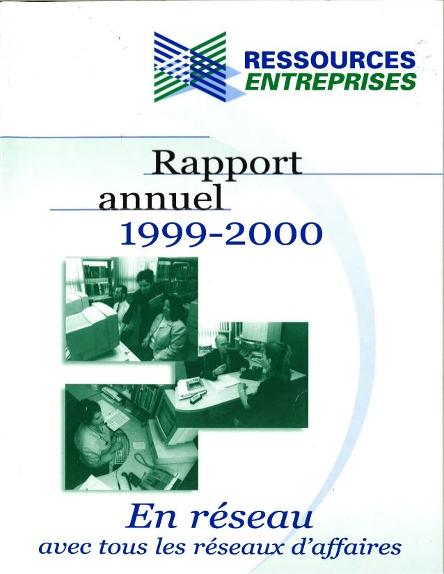 Rapport annuel 1999 2000