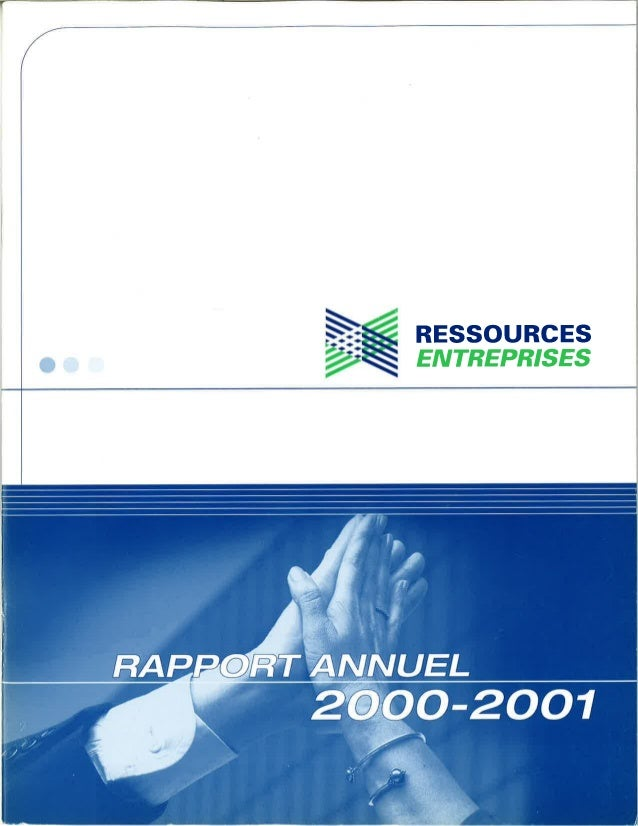 Rapport annuel  2000 2001