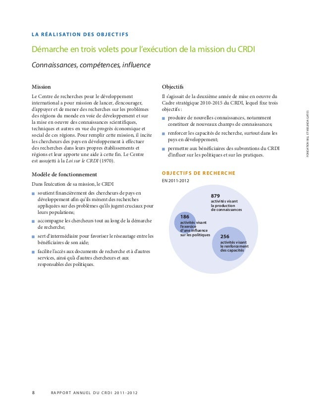 Mission Le Centre de recherches pour le développement international a pour mission de lancer, d'encourager, d'appuyer et d...
