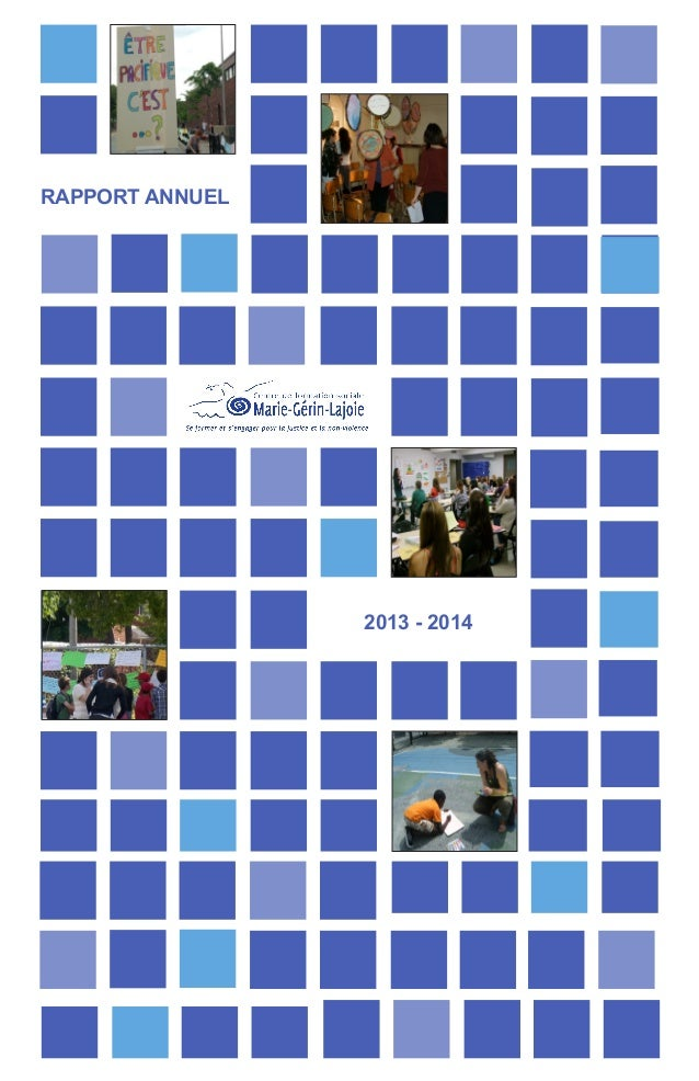 RAPPORT ANNUEL 2013 - 2014