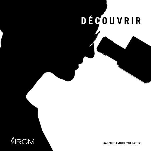 |1DÉCOUVRIR   RAPPORT ANNUEL 2011-2012