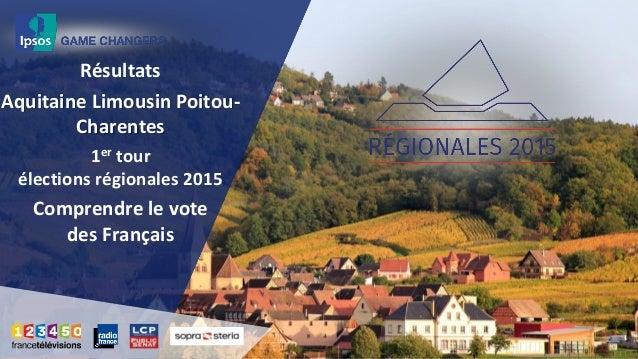 Résultats Aquitaine Limousin Poitou- Charentes 1er tour élections régionales 2015 Comprendre le vote des Français