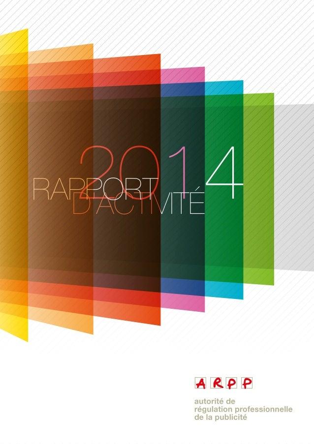 2014D'ACTIVITÉRAPPORT
