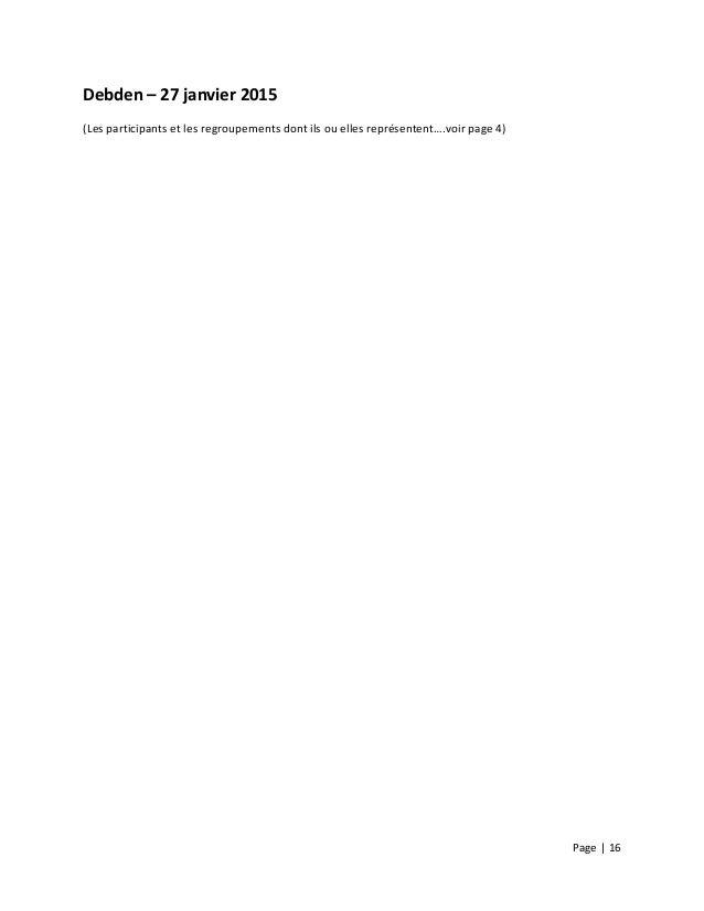 Page  |  16        Debden  –  27  janvier  2015   (Les  participants  et  les  regroupements ...