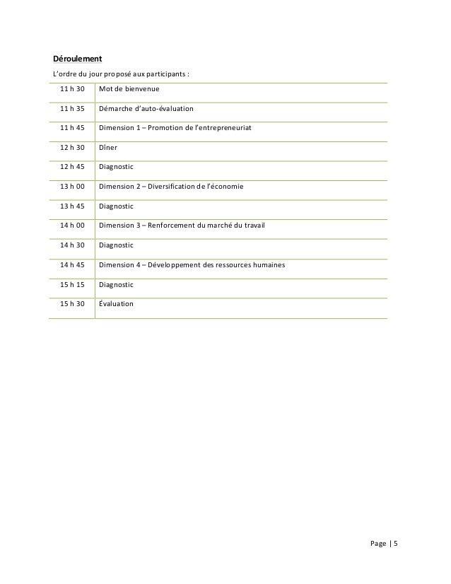 Page  |  5        Déroulement     L'ordre  du  jour  proposé  aux  participants  :   11  h ...