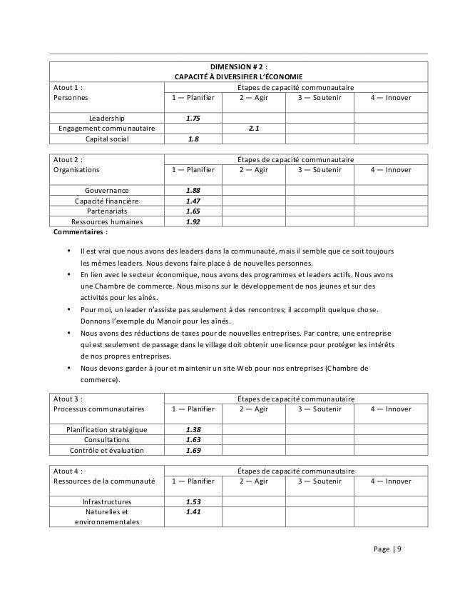 Page  |  9                          DIMENSION  #  2  :   CAPACITÉ  À  DIVERSIFIER  L'É...