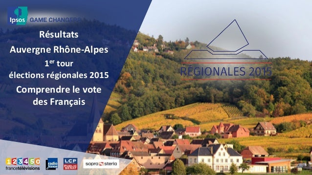 Résultats Auvergne Rhône-Alpes 1er tour élections régionales 2015 Comprendre le vote des Français