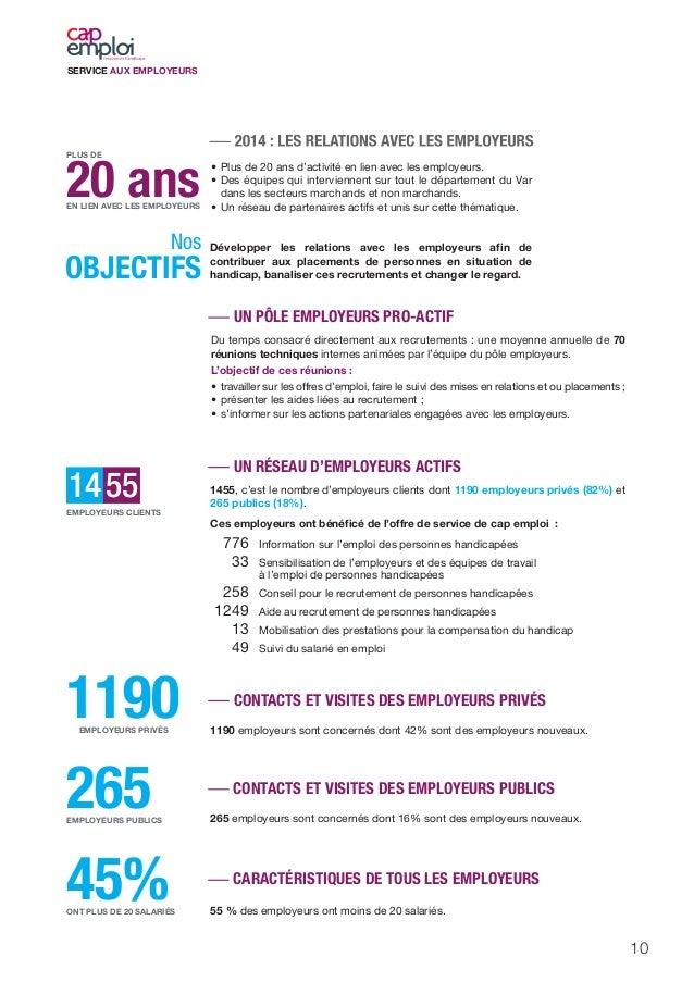 SERVICE AUX EMPLOYEURS 10 1190EMPLOYEURS PRIVÉS 265EMPLOYEURS PUBLICS 45%ONT PLUS DE 20 SALARIÉS 20 ansEN LIEN AVEC LES EM...