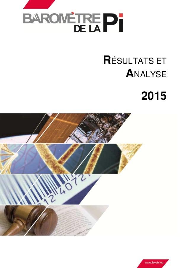 RÉSULTATS ET ANALYSE 2015