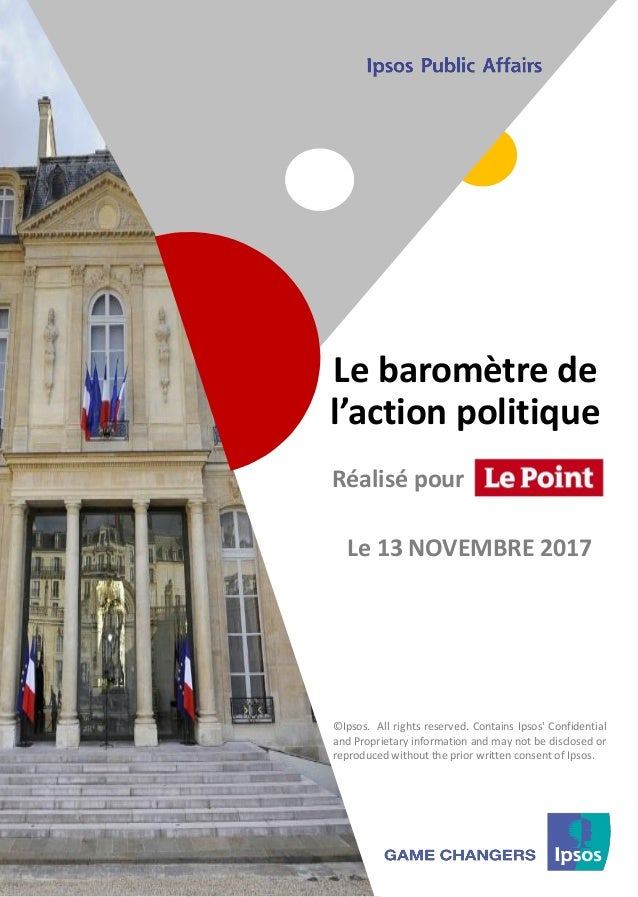 1 ©Ipsos.1 Le baromètre de l'action politique ©Ipsos. All rights reserved. Contains Ipsos' Confidential and Proprietary in...