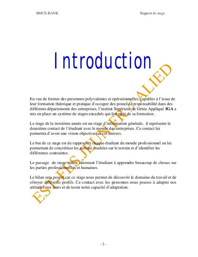 Rapport bmce 1 - Rapport de stage cabinet d avocat exemple ...