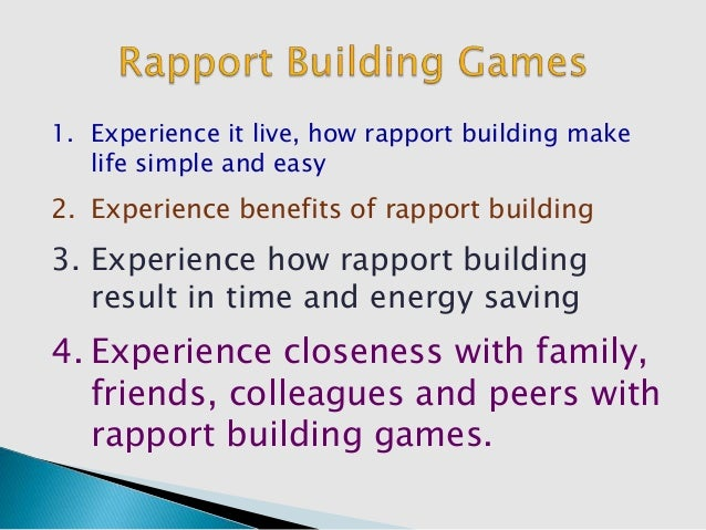 advantage of establishing rapport Importance of communication in nursing  are generally more successful in establishing a good rapport  are expected to have a distinct advantage upon.