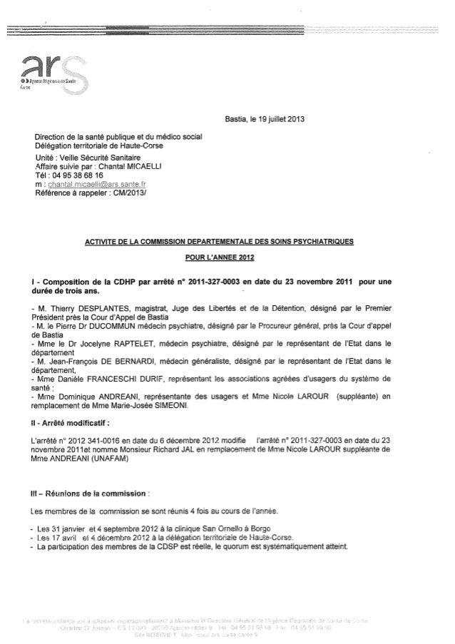Rapport cdsp   haute corse - 20 b - année 2012