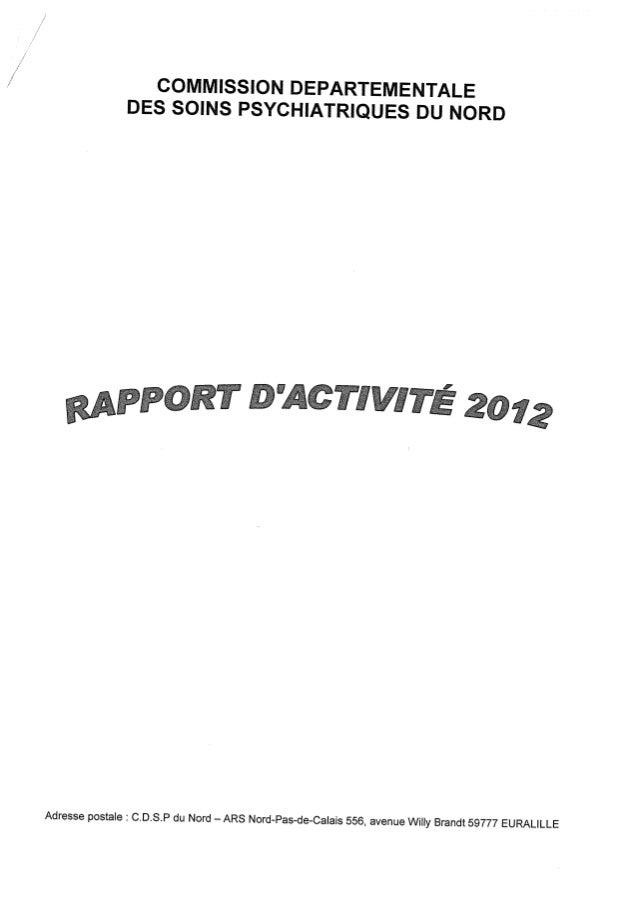 Rapport cdsp   nord - 59 - année 2012