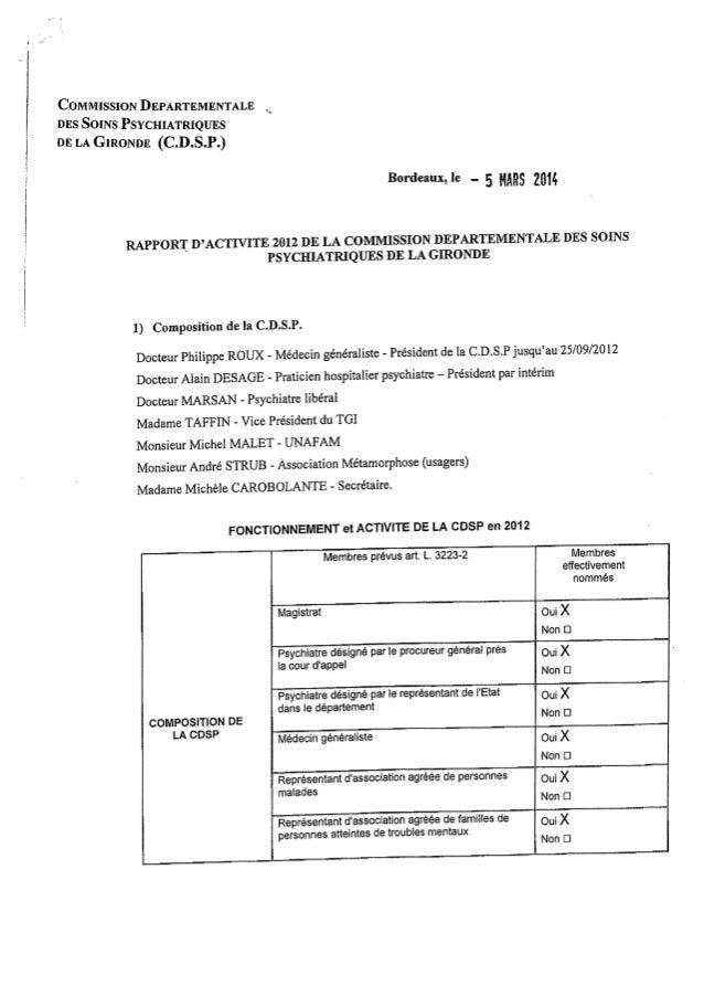Rapport cdsp gironde 2012