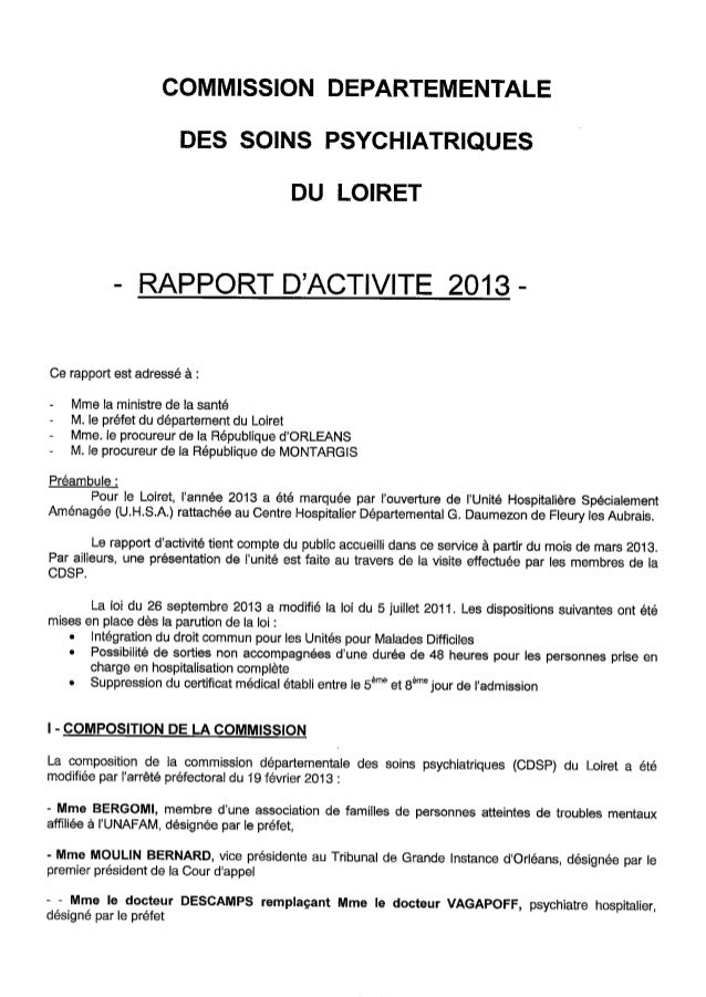 Rapport cdsp loiret 2013