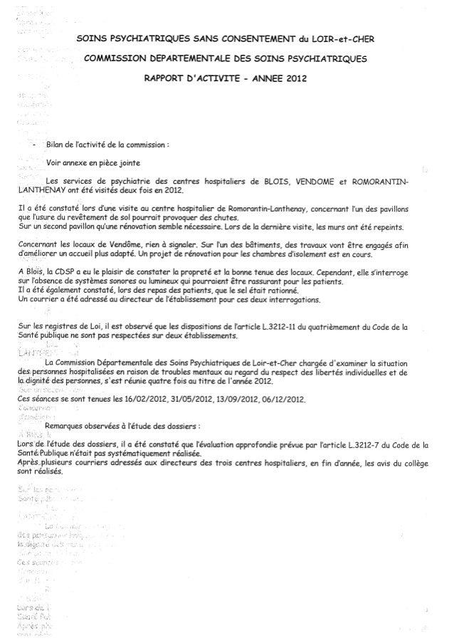 Rapport cdsp loir et cher   41 - année 2012 Slide 2