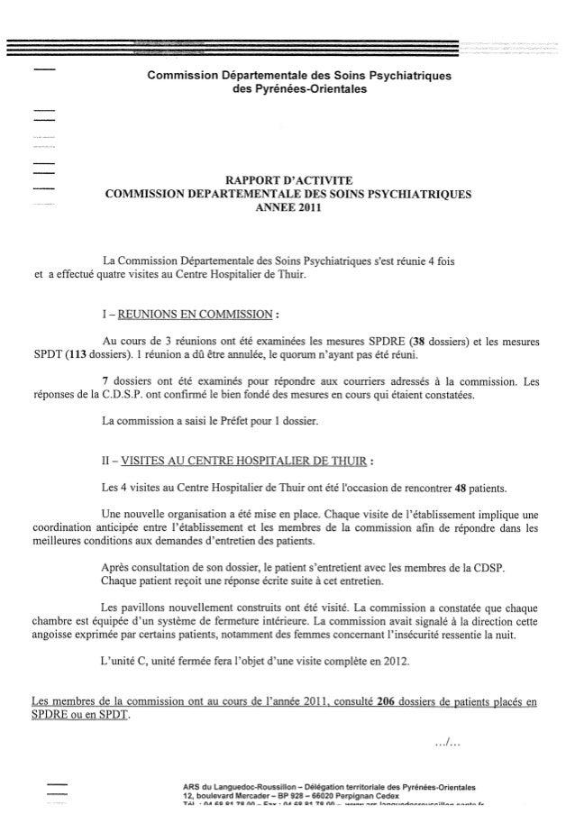 Rapport cdsp pyrénées orientales   11 - année 2011