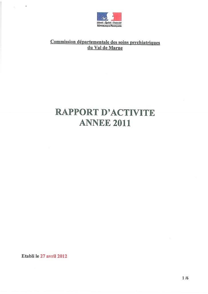 Rapport CDSP Val de Marne 2011