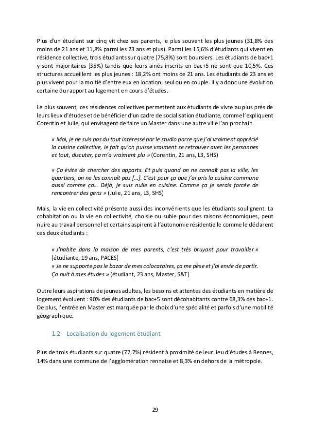 Rapport Sur La Condition De Vie Et De Santé Des étudiants