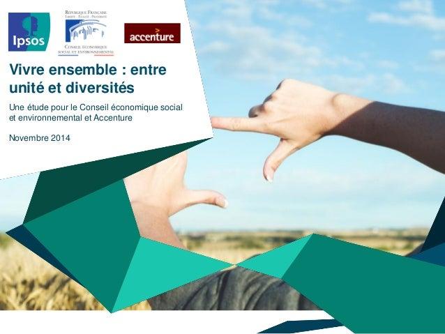 Vivre ensemble : entre unité et diversités - Rapport CESE - Nov 2014