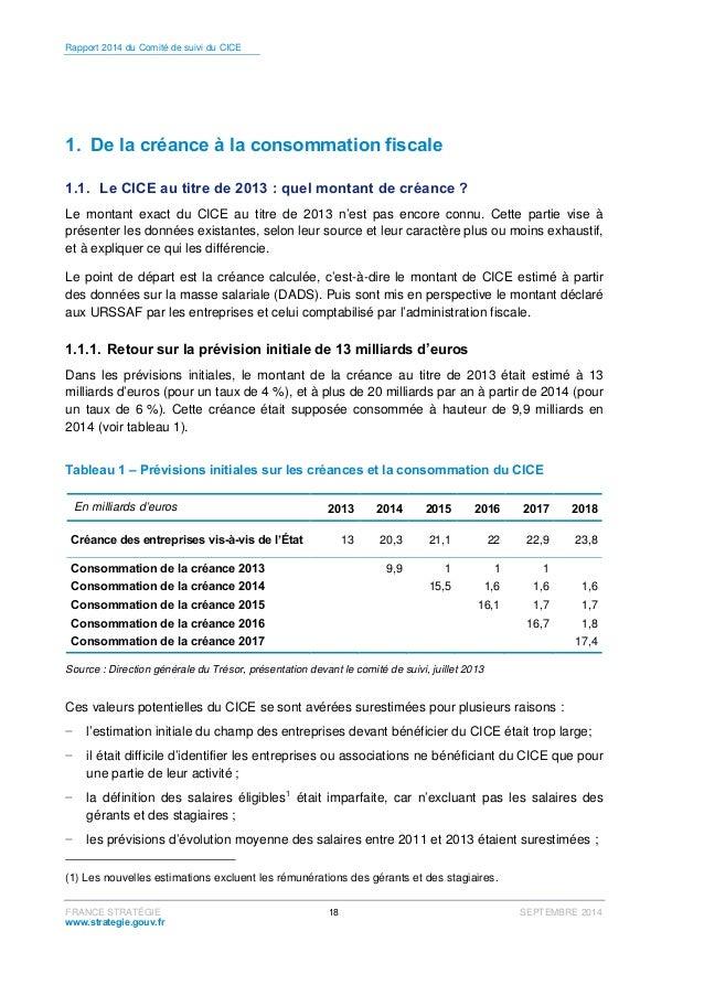 Rapport 2014 du comit de suivi du cr dit d 39 imp t pour la comp titivi - Declaration de fin de travaux non faite ...