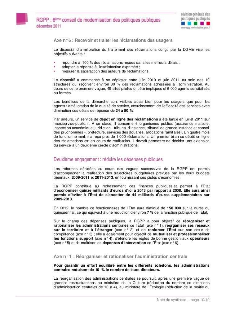 Rapport conseil de modernisation des politiques publiques - Difference entre conseil d administration et bureau ...