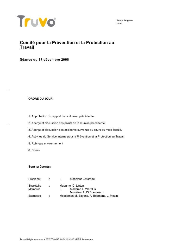 Truvo Belgium                                                                               Liège     Comité pour la Préve...