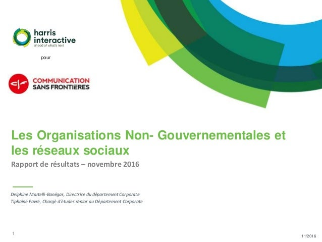 1 11/2016 Delphine Martelli-Banégas, Directrice du département Corporate Tiphaine Favré, Chargé d'études sénior au Départe...