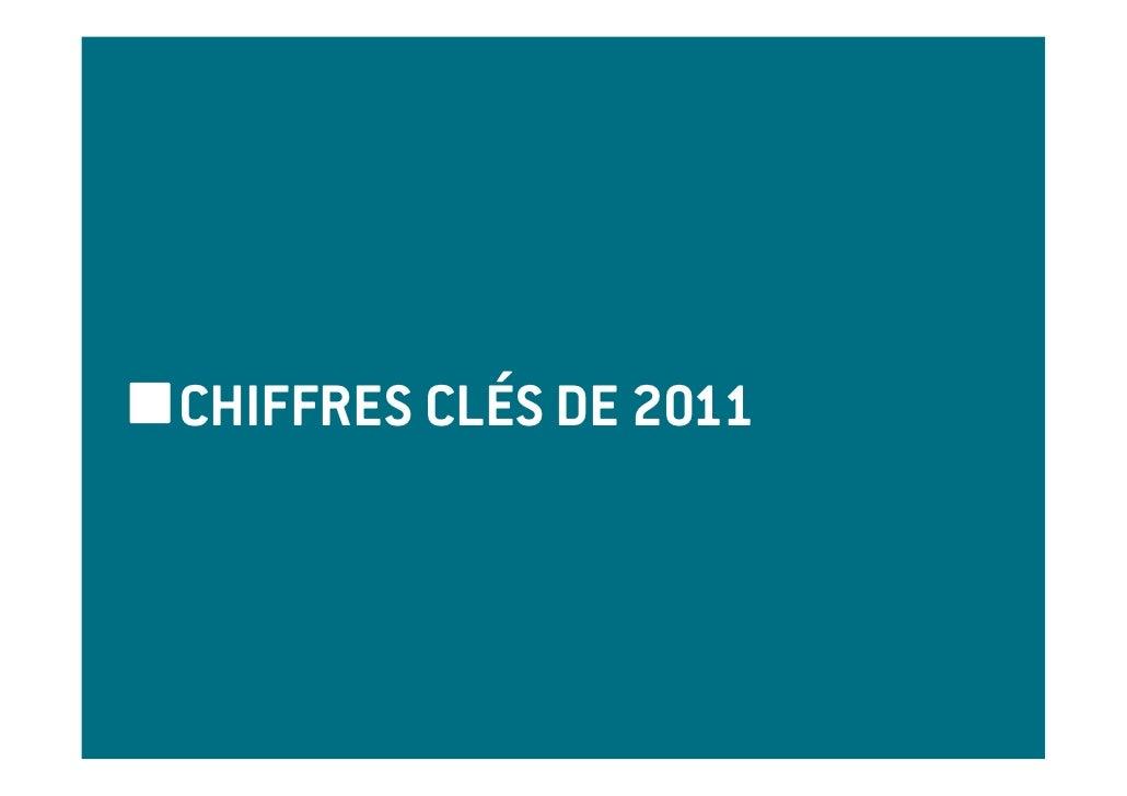 CHIFFRES CLÉS DE 2011