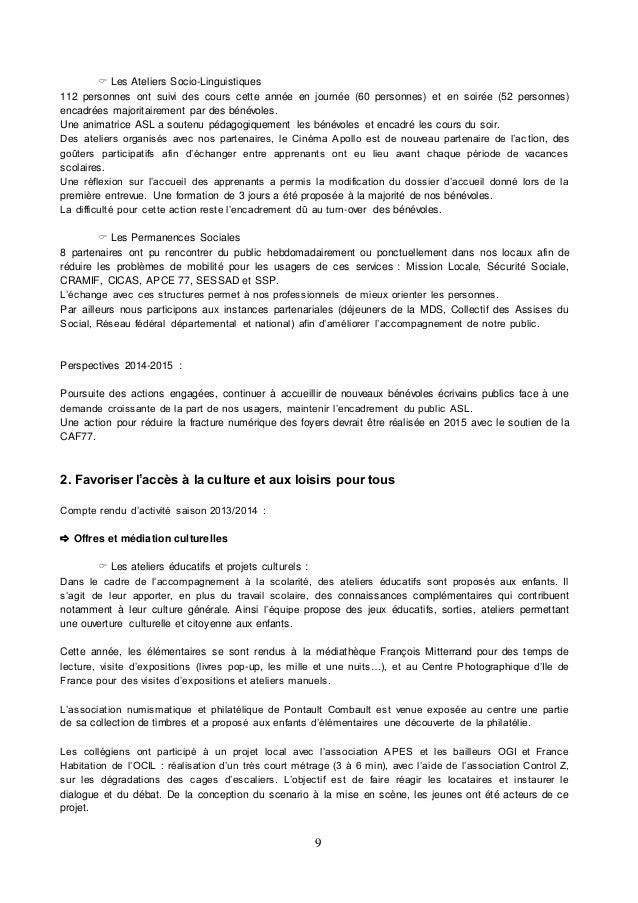 rapport d u0026 39 activit u00e9 2013 2014
