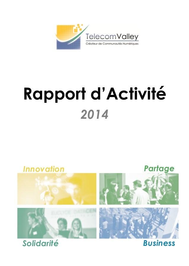2014 Rapport d'Activité Innovation Partage Solidarité Business