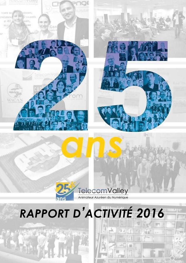 RAPPORT D'ACTIVITÉ 2016 ans
