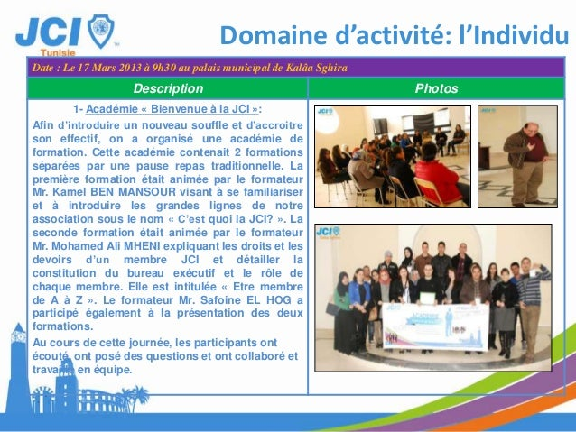 Description PhotosLes assises du PrintempsDomaine d'activité: l'Individu