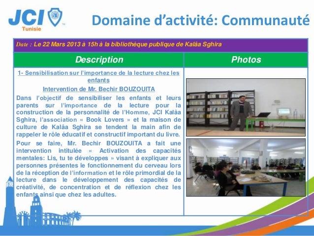 RAPPORT D'ACTIVITEOLM MahdiaTunisie
