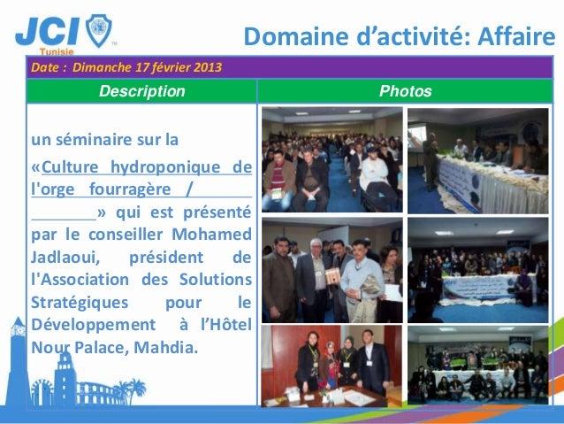 Domaine d'activité: l'IndividuDate : 13 Mars 2013Description Photos3- Sponsoring :Pour aboutir une action trèsréussite, il...