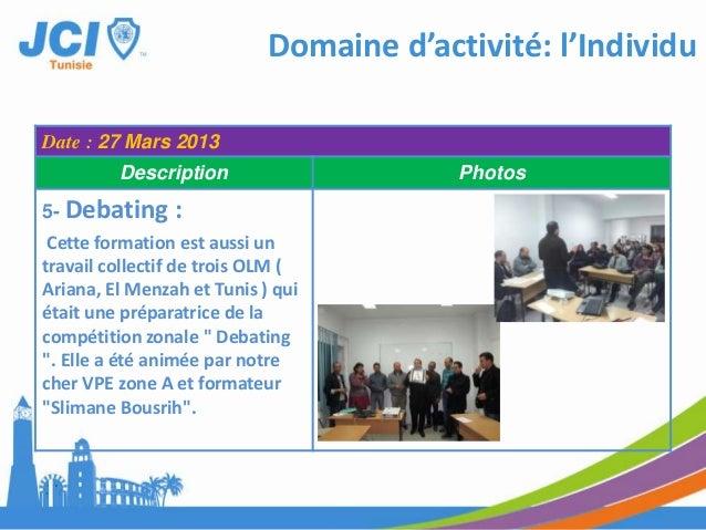 Domaine d'activité: CommunautéDate : LE 24 FEVRIER 2013Description Photos1-ACADEMIE DES VPS DELA ZONE B 2013MAISON DE JEUN...