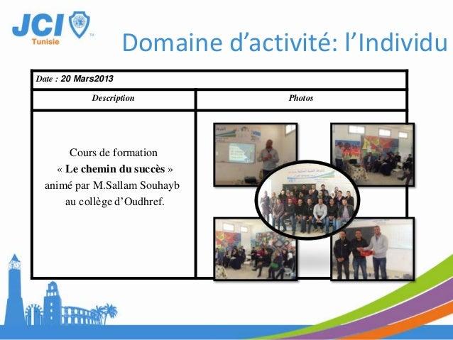 Date : 13 Janvier 2013Description PhotosExcursionSousse et MonastirDomaine d'activité: Communauté